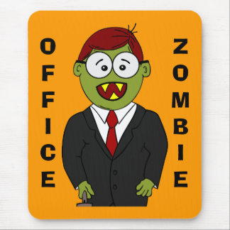 Happy Halloween From the Office's Resident Zombie Mouse Pad