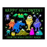 Happy Halloween Fron The Whole Creepy Bunch Postcard