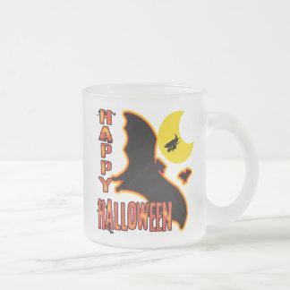 Happy Halloween Frosted Glass Coffee Mug