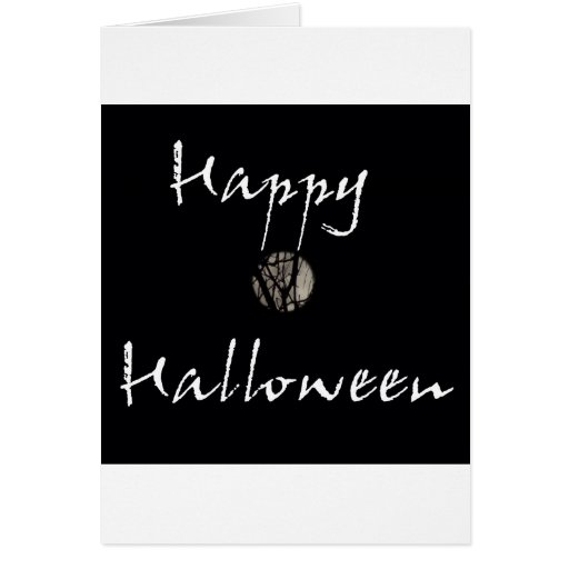 Happy Halloween Full Moon in Trees Greeting Card