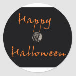 Happy Halloween Full Moon in Trees Round Sticker
