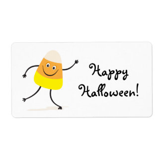 Happy Halloween funny candy corn labels