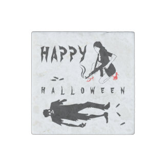 Happy Halloween Funny chic and unique custom Stone Magnet