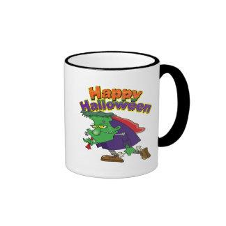 happy halloween funny frankenstein cartoon mug