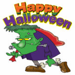 happy halloween funny frankenstein cartoon photo sculptures