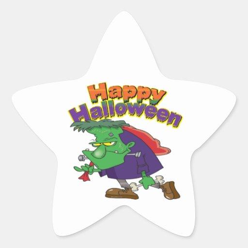 happy halloween funny frankenstein cartoon sticker