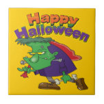 happy halloween funny frankenstein cartoon ceramic tiles