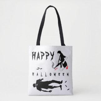 Happy Halloween Funny one-of-a-kind custom Tote Bag