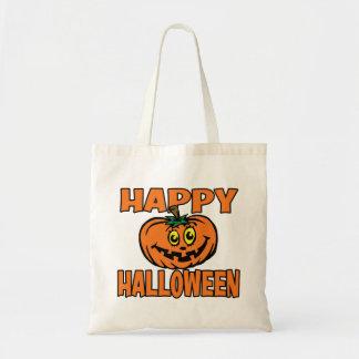 Happy Halloween Funny Pumpkin Tote Bag