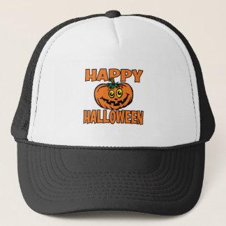 Happy Halloween Funny Pumpkin Trucker Hat