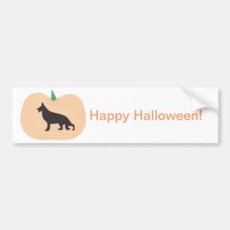 Happy Halloween German Shepherd Car Bumper Sticker