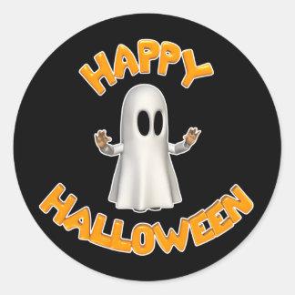 Happy-Halloween-Ghost Classic Round Sticker
