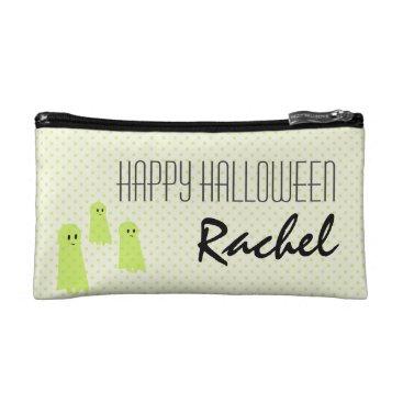 Halloween Themed Happy Halloween Ghost Cosmetic Bag