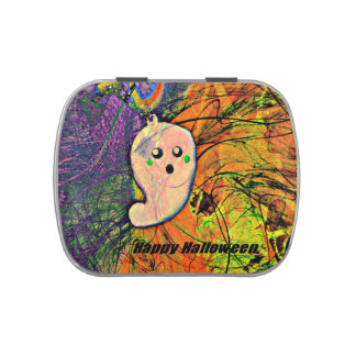 Happy Halloween Ghost Jelly Belly Candy Tins