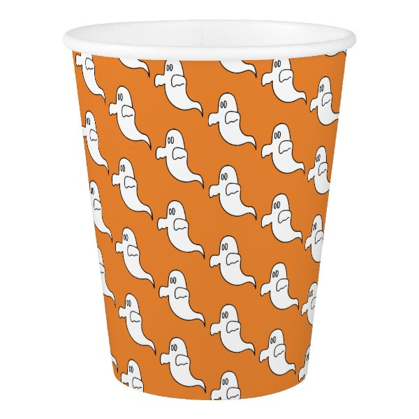 Happy Halloween Ghost Paper Cup