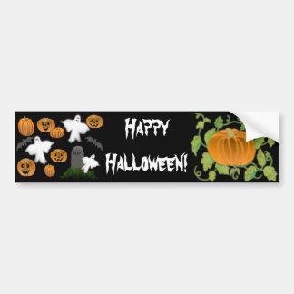 Happy Halloween Ghost Pumpkin Bumper Sticker