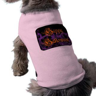 Happy Halloween Ghostly Purple Scrolls T-Shirt