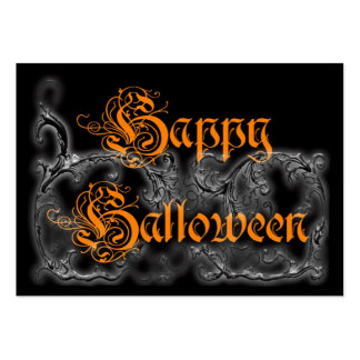 Happy Halloween Ghostly Scrolls Large Business Card
