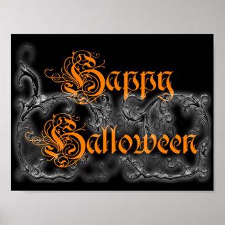 Happy Halloween Ghostly Scrolls print