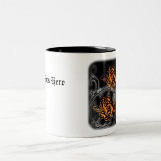 Happy Halloween Ghostly Scrolls Two-Tone Coffee Mug
