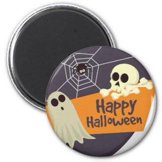 Happy Halloween Ghosts and Crossbones Magnet
