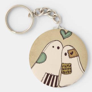 happy halloween ghosts basic round button keychain