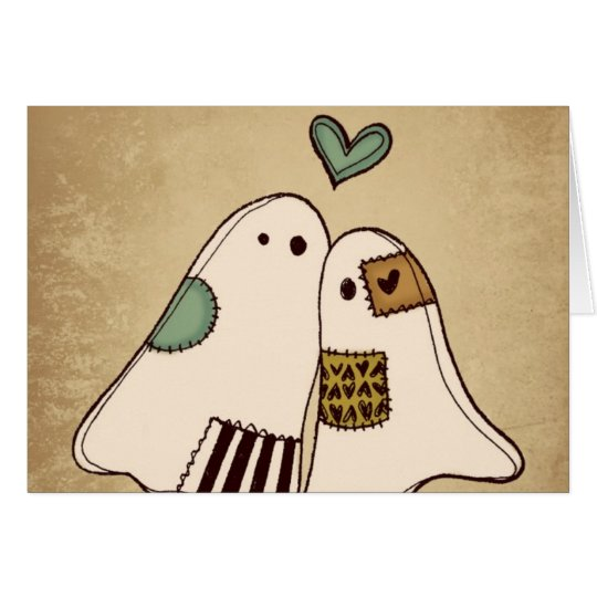 happy halloween ghosts card