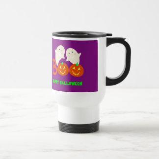 Happy Halloween Ghosts Jack O'lantern Pumpkins BOO Travel Mug