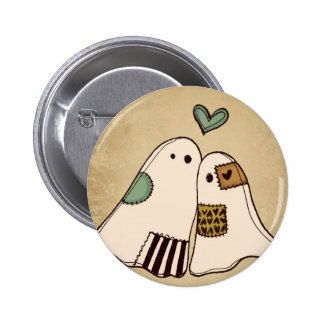 happy halloween ghosts pinback button