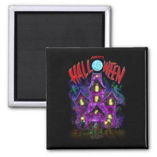 Happy Halloween Glowing Haunted House Magnet