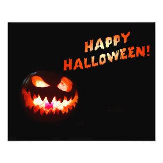 HAPPY HALLOWEEN - Glowing Jack-O-Lantern Flyer