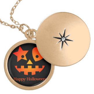 Happy Halloween Gold Plated Necklace