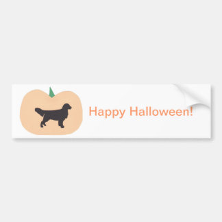 Happy Halloween Golden Retriever Bumper Sticker