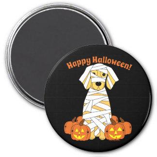 Happy Halloween Golden Retriever Mummy Magnet