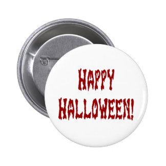 Happy Halloween Gore Text 2 Inch Round Button