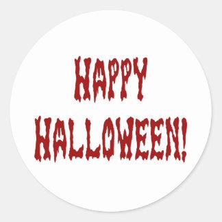 Happy Halloween Gore Text Classic Round Sticker