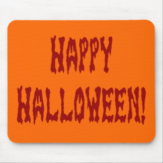 Happy Halloween Gore Text Mouse Pad