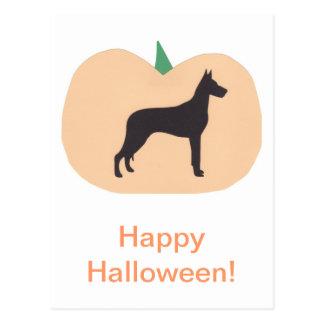 Happy Halloween Great Dane Postcard