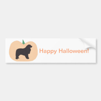 Happy Halloween Great Pyrenees Car Bumper Sticker