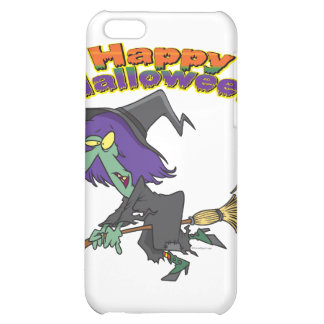 happy halloween green witch cartoon iPhone 5C covers