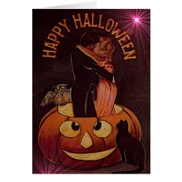 Wedding Themed Happy Halloween Greeting Card For Couple