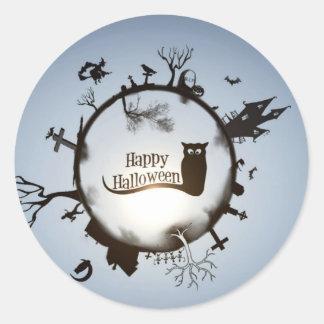 Happy Halloween greeting Classic Round Sticker
