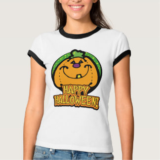 Happy Halloween Grinning Pumpkin Shirt