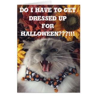 Happy Halloween / Grumpy Cat card