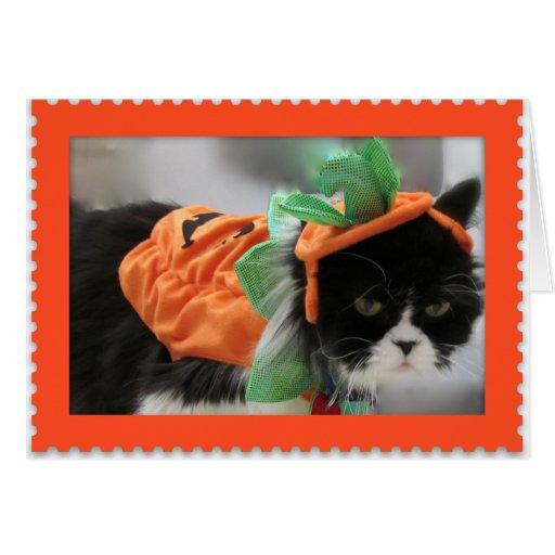 Happy Halloween-Grumpy Humphries - Pumpkin Card
