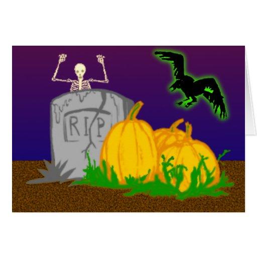 Happy Halloween Grußkarte