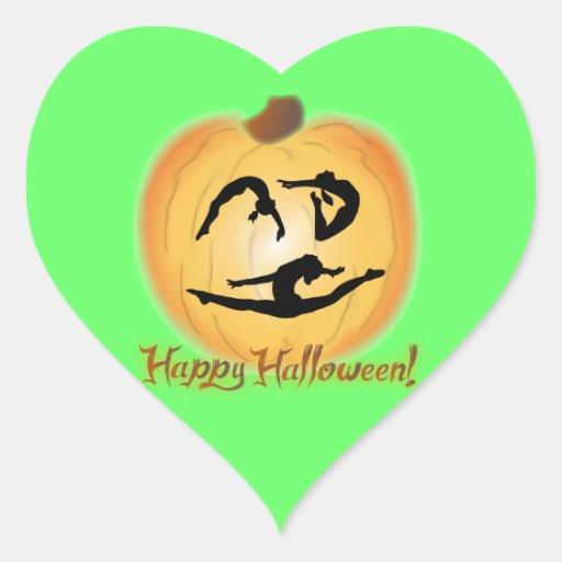 Happy Halloween Gymnastics Heart Sticker