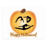 Happy Halloween Gymnastics Postcard