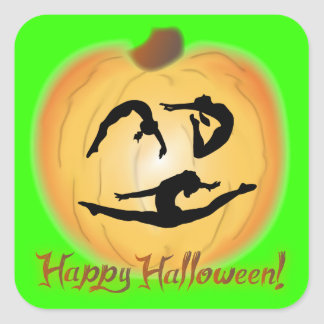 Happy Halloween Gymnastics Square Sticker