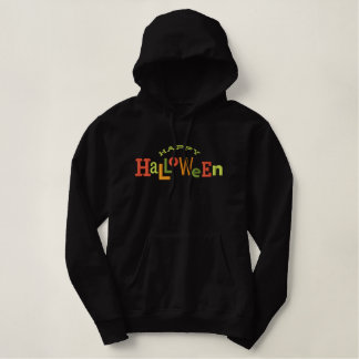 Happy Halloween  Halloween Embroidery Hoodie